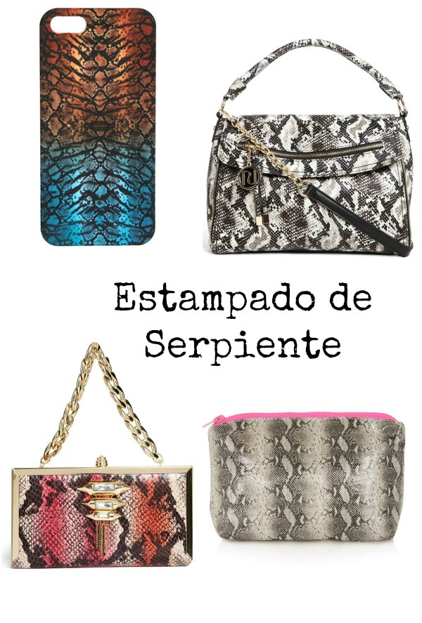 estampado de serpiente