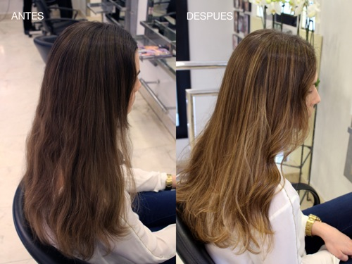 Degrade de color antes y despues