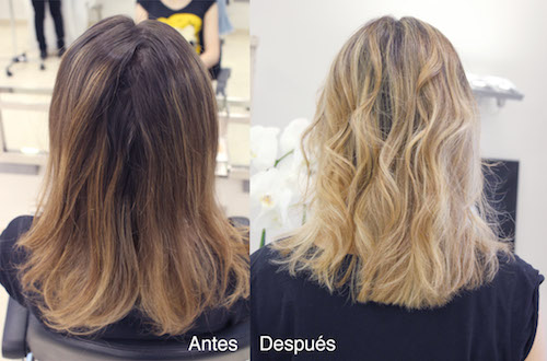 antes y despues del arreglo de color