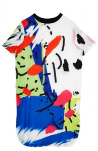 Textile Federation for ASOS Printed T-Shirt Dress ú55.00